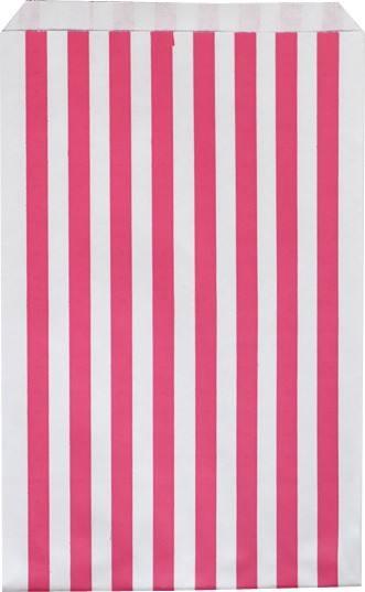 Papiertüten Set Streifen pink