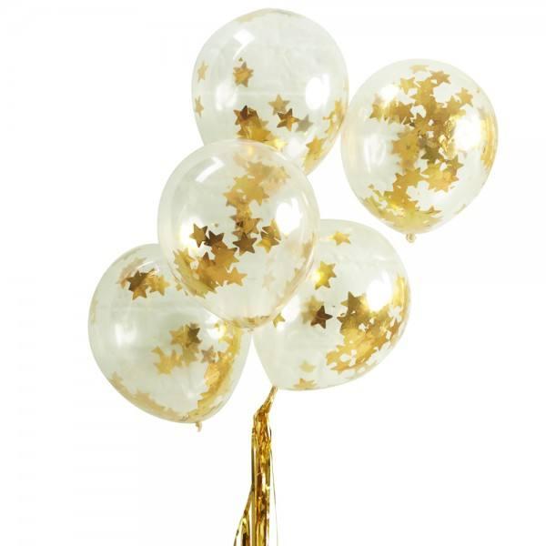 Metallic Star - Ballons Sterne gold