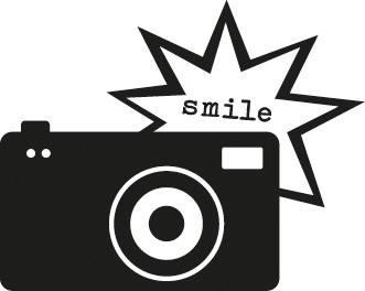 Holzstempel Kamera Smile
