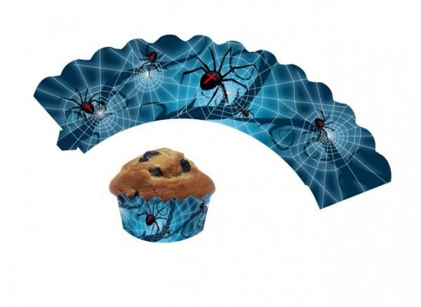 Cupcake Wrapper Spinnen