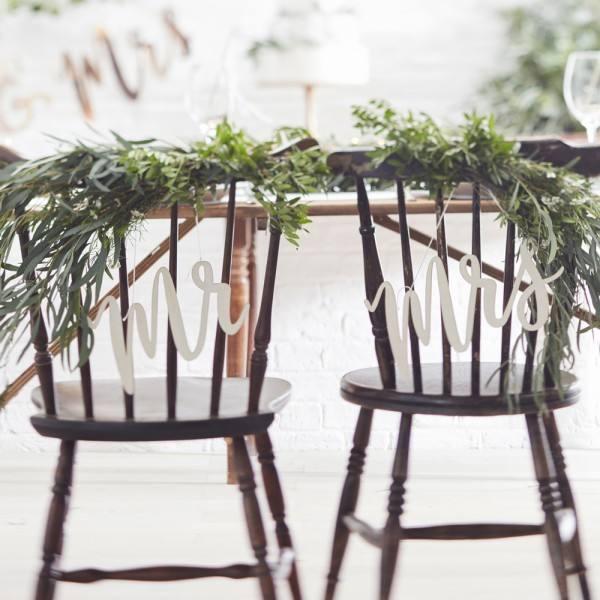Botanics Holztafel Mr & Mrs
