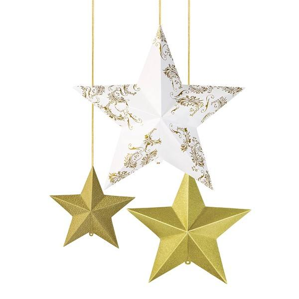Sterne hängend gold