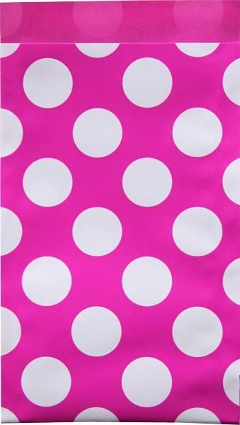Papier Tüten Punkte pink