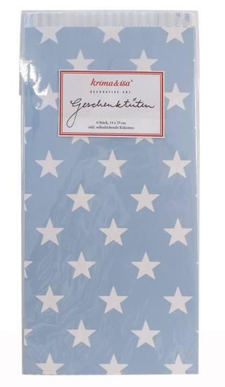 Krima & Isa Geschenktüten hellblau Sterne