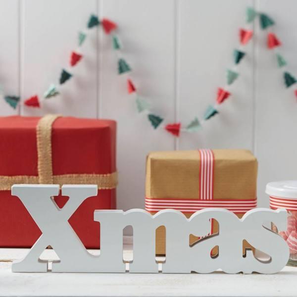 Vintage Noel - Buchstaben X-Mas