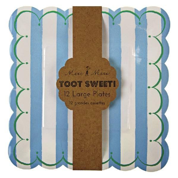 Meri Meri - Toot Sweet Teller groß hellblau