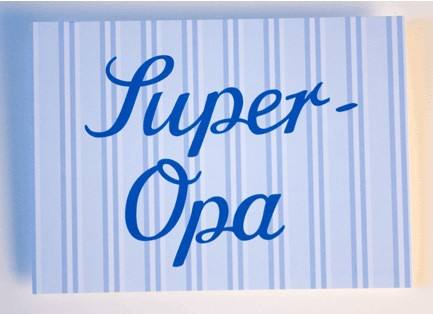 Krima & Isa - Postkarte Super Opa