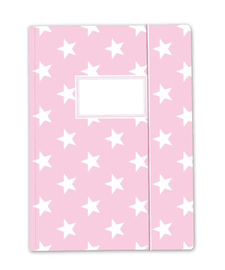 Krima & Isa - Sammelmappe Sterne rosa