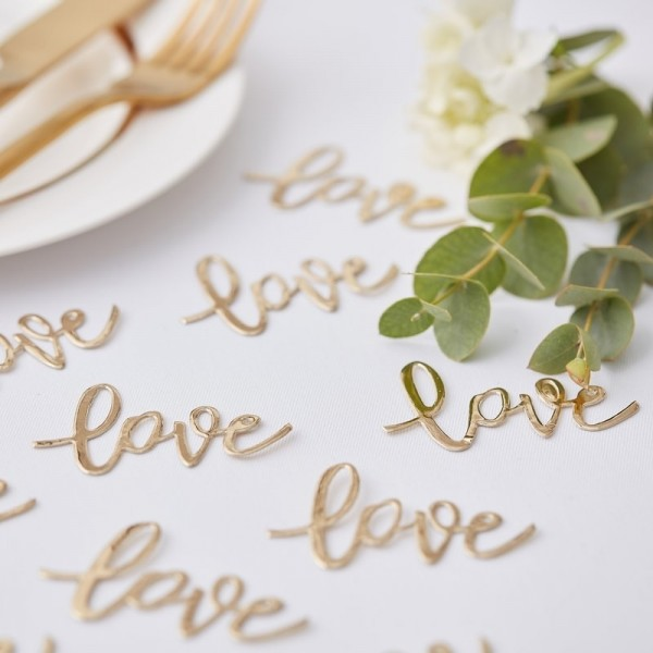 Gold Wedding Konfetti gold love