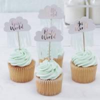 Hello World - Cupcake Topper