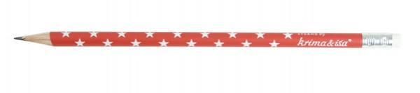 Krima & Isa - Bleistift Sterne rot