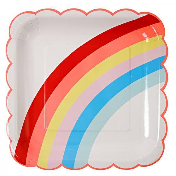 Meri Meri - Pappteller Einhorn Regenbogen
