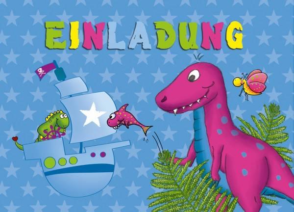 Einladungen Postkarten Dino