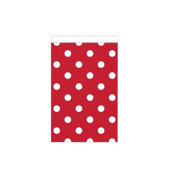 Papiertüten klein rot Punkte