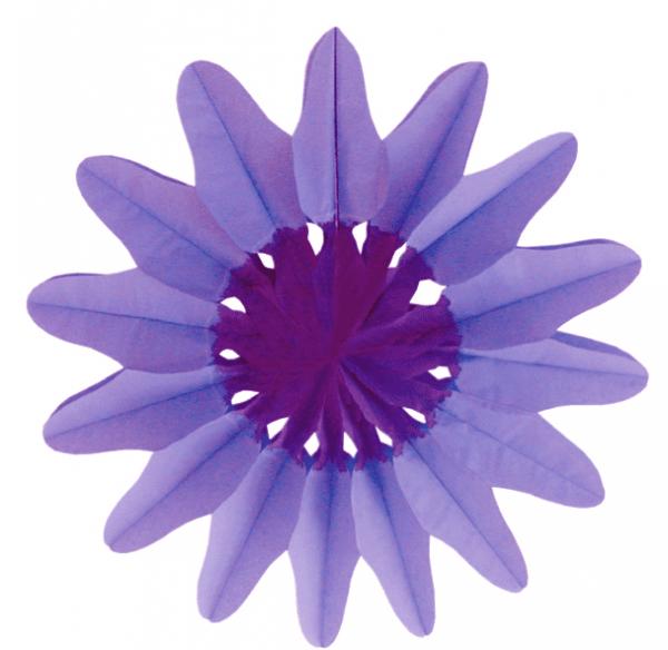 Papier Rosette Blüte lila 2 farbig
