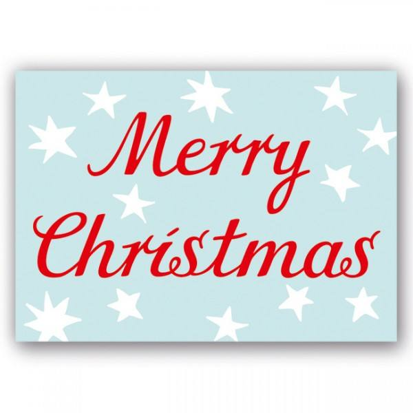 Krima & Isa Postkarte Merry Christmas rot