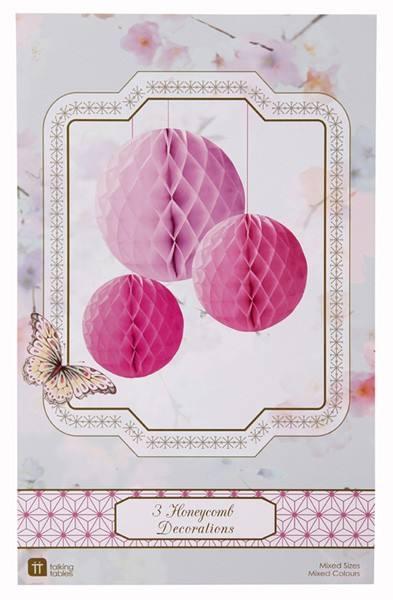 Wabenballset rosa pink
