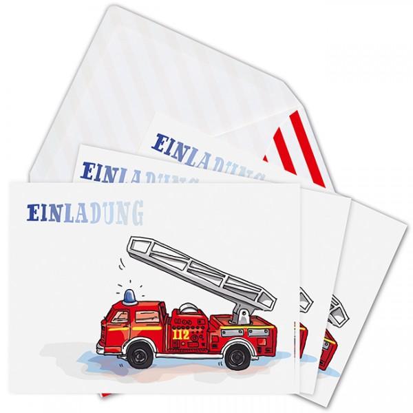 Krima & Isa - Einladungsset Feuerwehr