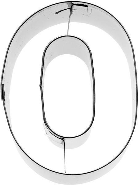 Plätzchenausstecher Zahl Null