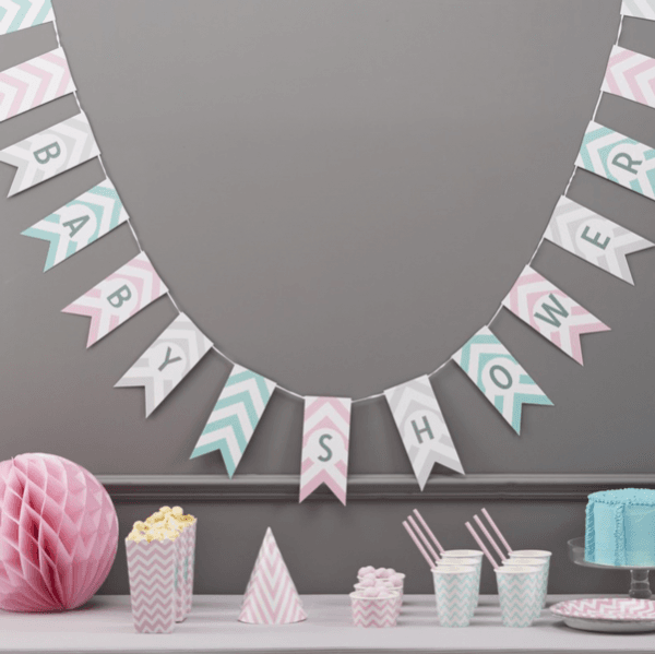 Chevron Divine Girlande Babyshower