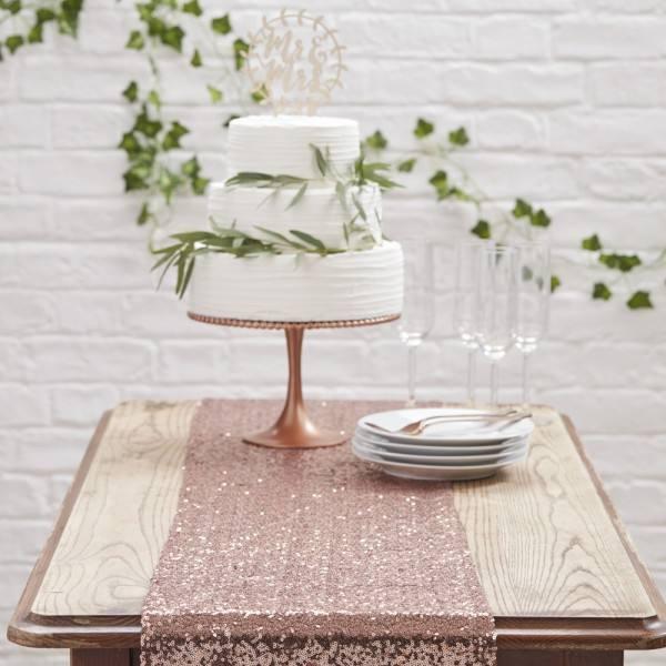 Botanics Tischläufer rosegold