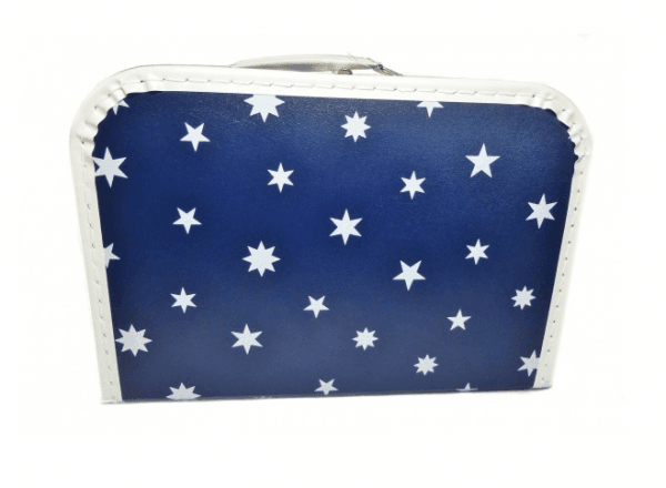 Koffer 30 cm Sterne dunkelblau