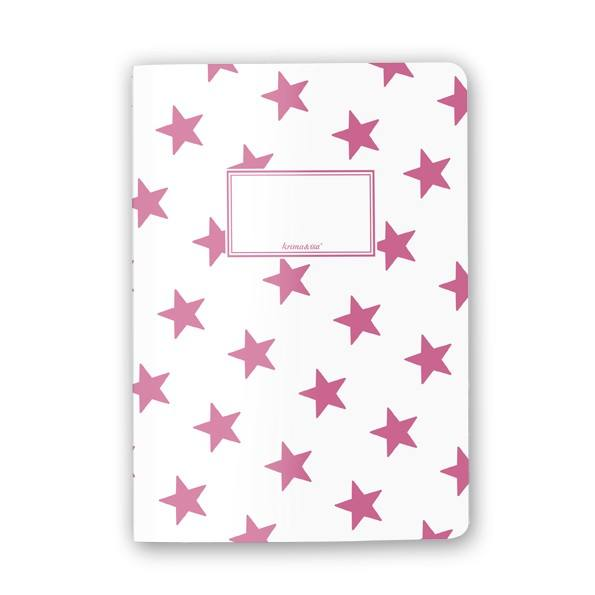 Krima & Isa - Notizheft Sterne pink