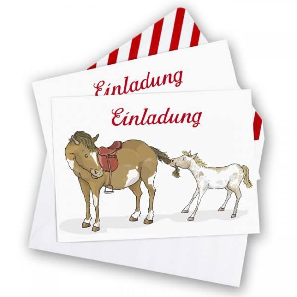 Krima & Isa - Einladungsset Pony