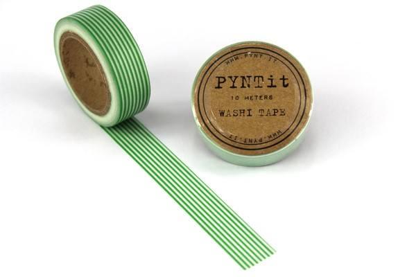 Maskingtape Streifen grün/weiss