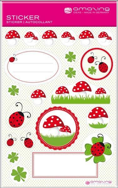Sticker Marienkäfer
