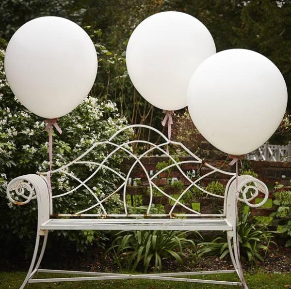 Riesenballon Set Weiss