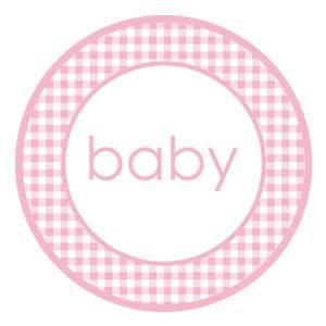 Aufkleber Baby rosa