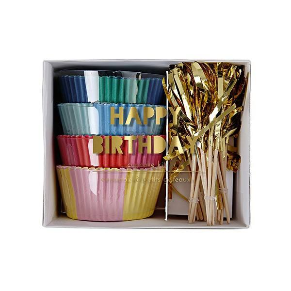 Meri Meri - Cupcake Set Happy Birthday bunt