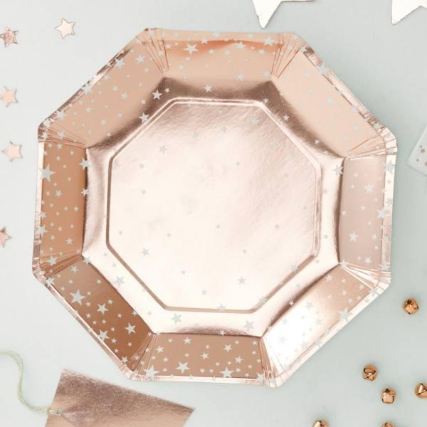 Metallic Star - Teller rosegold