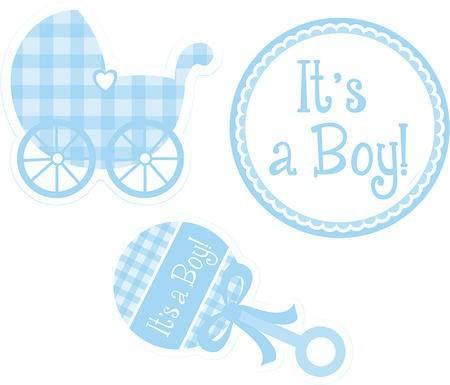 Papier Dekoteile Baby Boy