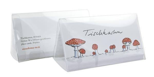 Krima & Isa Tischkarten Pilze