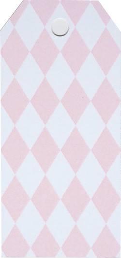 Little Geschenkanhänger rosa Raute
