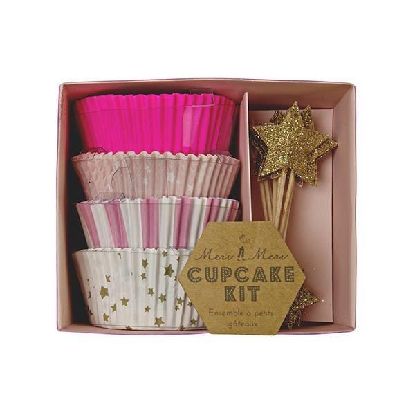 Meri Meri - Cupcake Set Toot Sweet pink