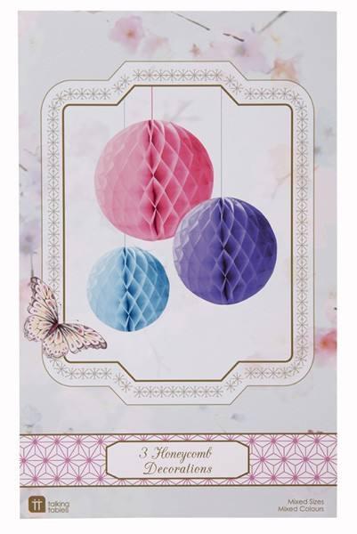 Wabenballset pink/lila/blau Mix