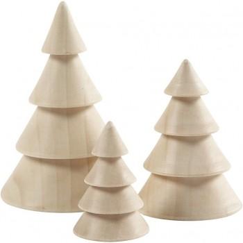 Tannenbäume aus Holz 3er Set