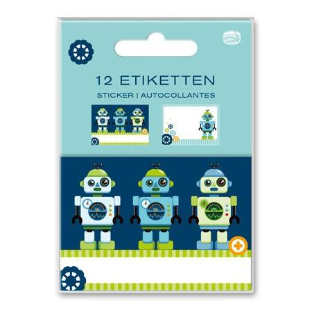Etiketten Set Roboter