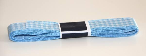 Karoband breit hellblau