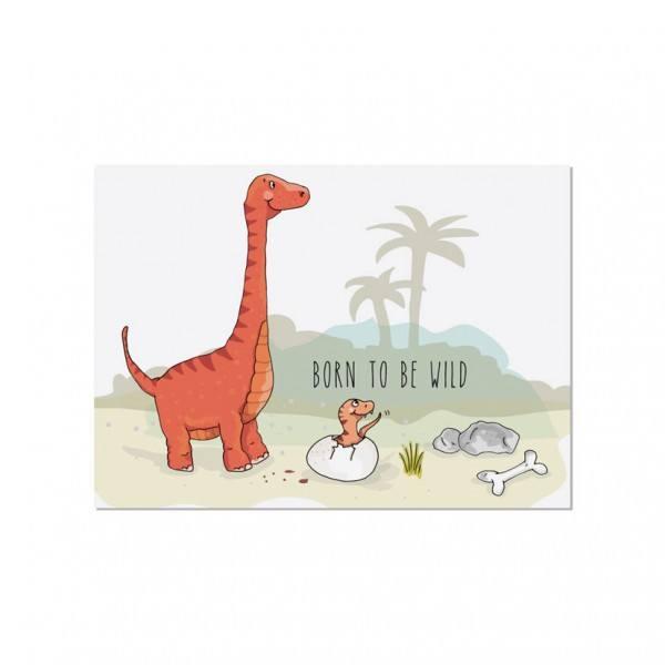 Krima & Isa - Postkarte Dino Born to be wild