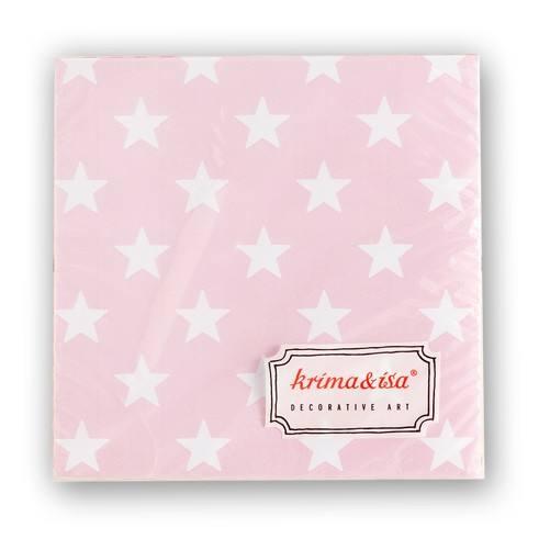 Krima & Isa - Servietten Sterne rosa