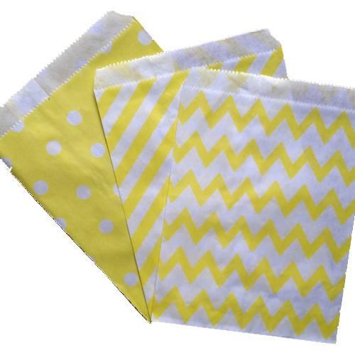 Candytüten diverse Muster gelb