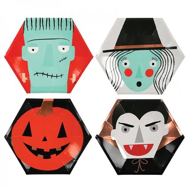 Meri Meri - Pappteller Halloween Character