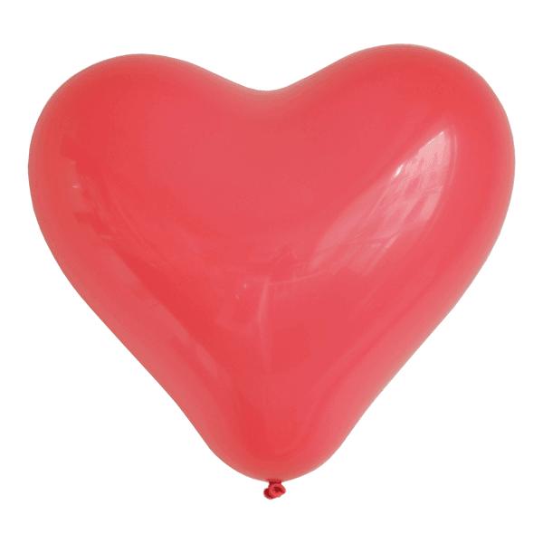 Luftballon Herz rot