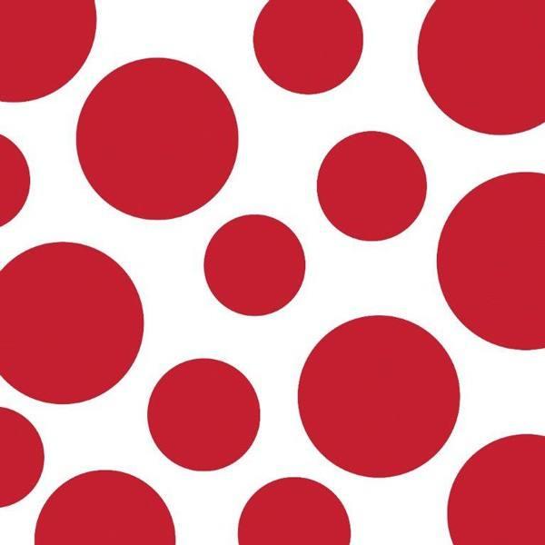 Servietten Punkte/Chevron rot