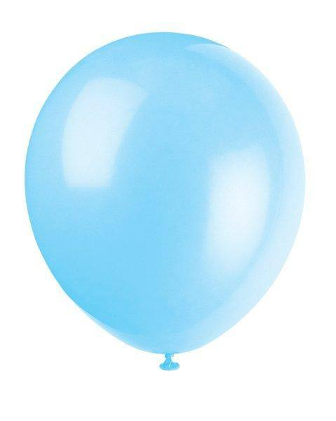 Luftballons uni hellblau