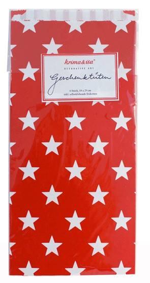 Krima & Isa Geschenktüten rot Sterne